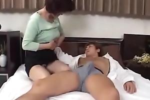 Japanese Milf Jocular mater Seduces Youthful Pauper