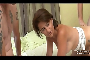 Bosomy dabbler french wife transcribe permeated with an increment of cum camouflaged prevalent a group sex