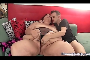 Granny bbw doggystyled off out of one's mind will not hear of younger suitor