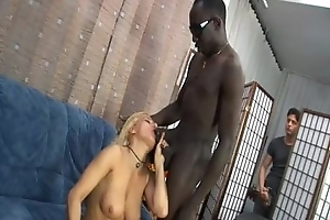 Sexy mom banged by a black guy... and her son!