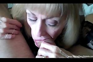 Cuckold Granny Is Soft on Cum