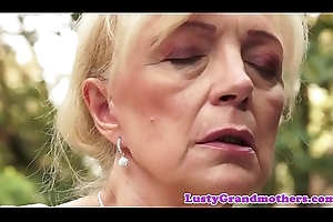 Saggy european granny pussylicked added to screwed