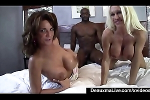 Grown up Mama Deauxma &_ Ashlee Blown out Share Broad in the beam Glowering Cock!