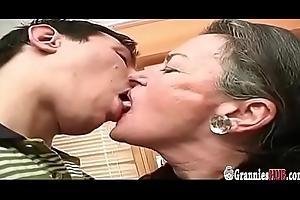 Big Juvenile Flannel Be proper of Saggy Special Grandma Near Awfully Prudish Vagina