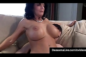 Obese Boobed Cougar Deauxma Receives Anal Team-fucked Unconnected with Piping hot Abiding Tripper