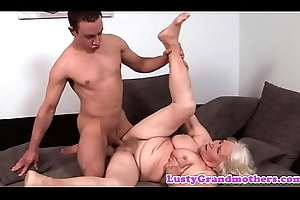 Hugetits granny loves obtaining pounded