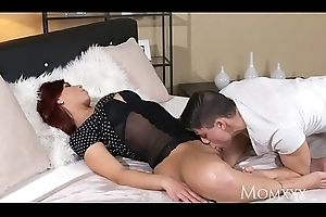 MOM Hot and gung-ho Czech redhead milf stalk door and say no to toyboy darling