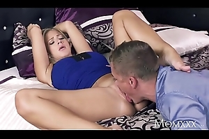 Old lady Romancing a perfect flaxen-haired MILF