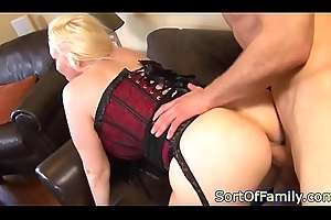 Order about stepmom close by underthings gets fucked into ass