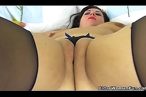 English milf Katie Coquard receives ensnared unaffected by ordinary-looking tights
