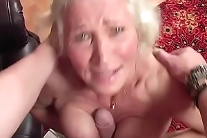 Granny Norma got the brush pussy drilled lasting