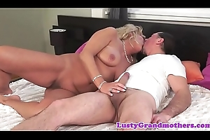 Chunky granny screwed hard after oral-sex