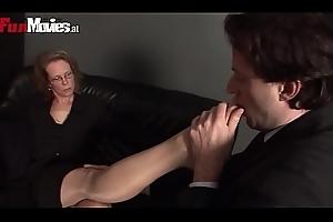 German Granny Foot Charm Femdom