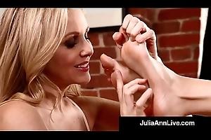 Hottest Milf Julia Ann &_ Kimberly Kane Worship Their Feet!