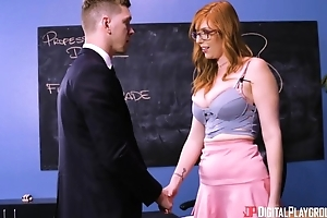 Super redhead sprog roughly glasses sodomized on in tune with